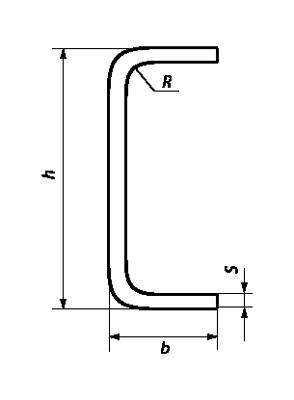 Гнутый равнополочный швеллер